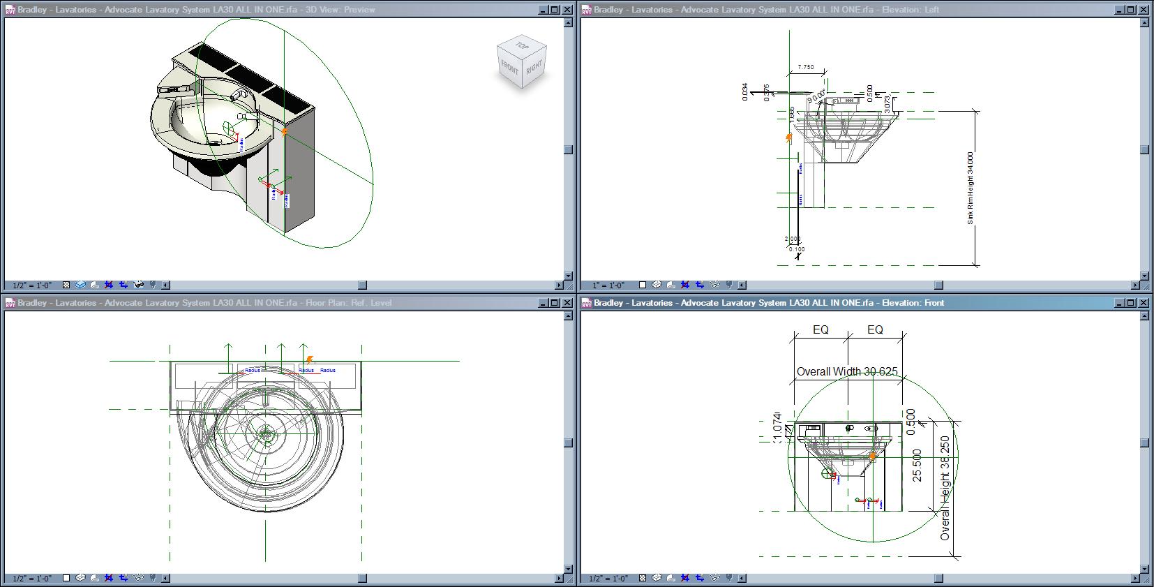 Bradley Advocate™ Lavatory Systems LA30