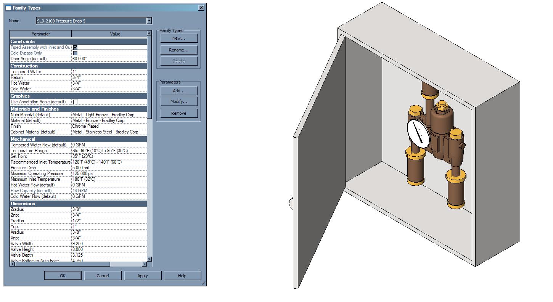 Bradley Navigator® Mixing Valve EFX60, EFX25