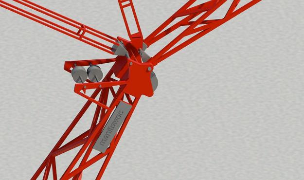 Manitowoc 888 Ringer - Boom head detail