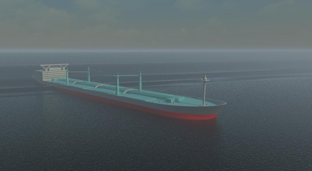 Render of an oil tanker Revit family