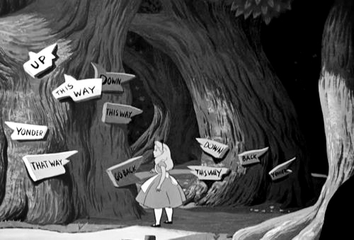 Alice in Wonderland - Which way to go