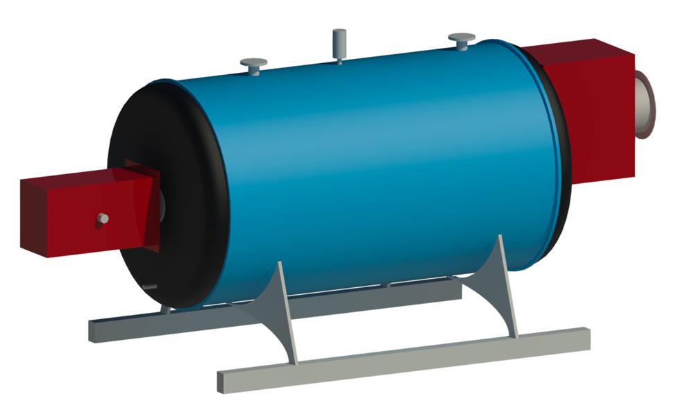Non-Condensing Boiler Revit Family by Andekan –Render