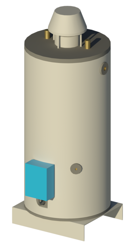 Water storage heater rendering