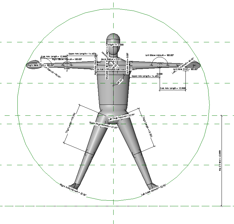 Andy the Revit person as the Vitruvian Man