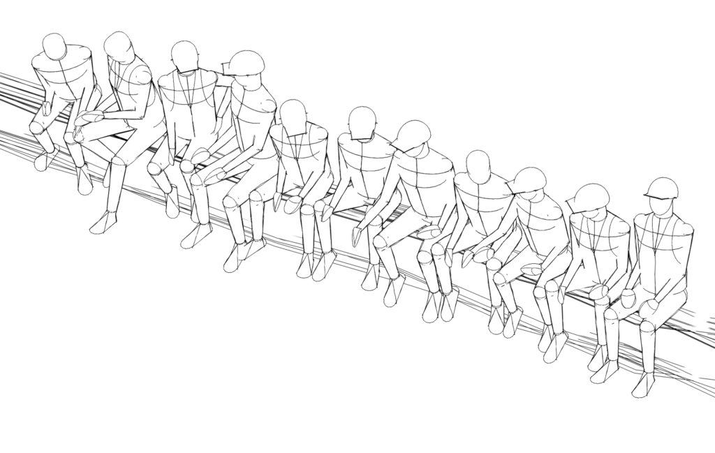 Image showing Revit entourage family sitting on Chrysler beam in Sketch mode